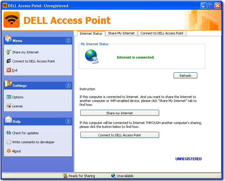 Main window of DELL Access Point