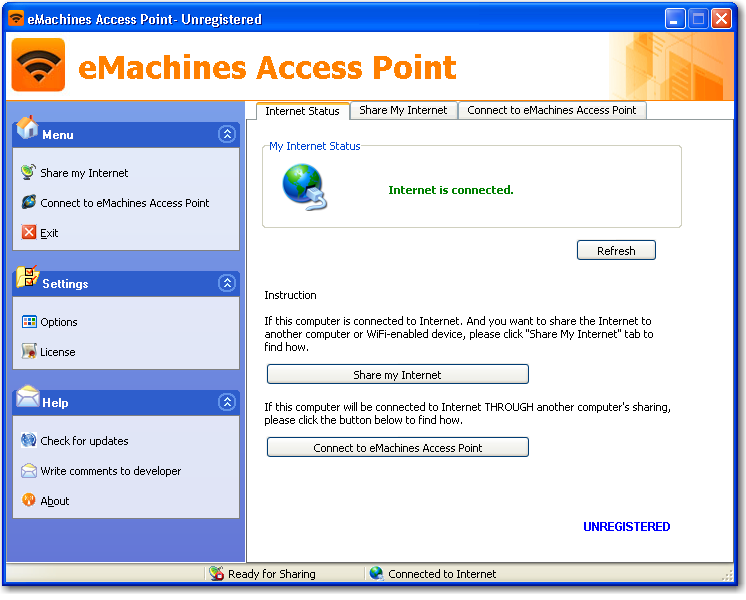 Click to view eMachines Access Point 2.5 screenshot