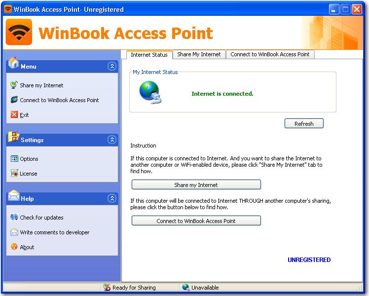 WinBook Access Point screenshot