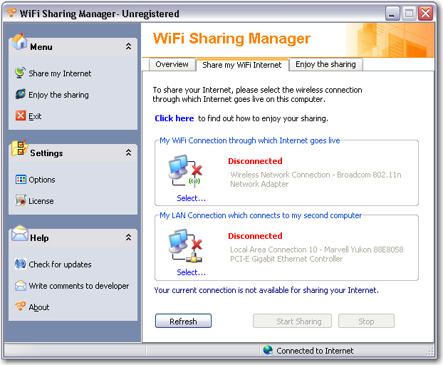 WiFi Sharing Manager 2.0 full