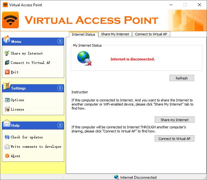 VIRTUAL ACCESS POINT screenshot